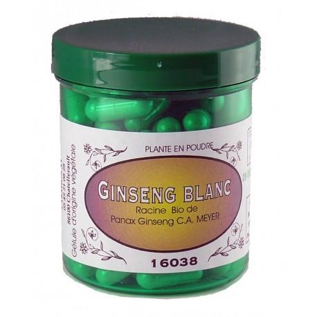 GINSENG BLANC Gélules BIO 450 mg